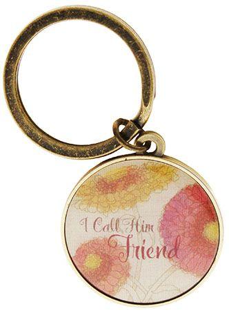 I Call Him Friend Jesus Keyring