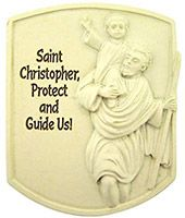 Saint Christopher Protect Us Visor Clip