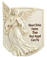 Never Drive Faster Than your Angel Can Fly Visor Clip