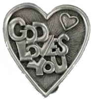 God Loves You Visor Clip Religious