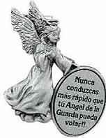 Angel de la Guarda Spanish Visor Clip