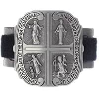 4 Way Motorcycle Medals Catholic Bike Clip On