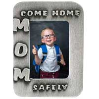 Mon Come Home Safely Picture Frame Visor Clip