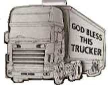 God Bless This Truck Visor Clip Pewter