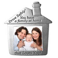 Family Picture Visor Clip Drive Safely