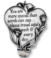 Auto Visor Clip - You Are Special Friend Heart