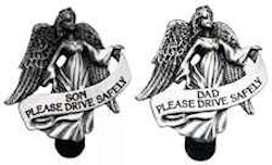 Son or Dad Guardian Angel Drive Safely Visor Clip