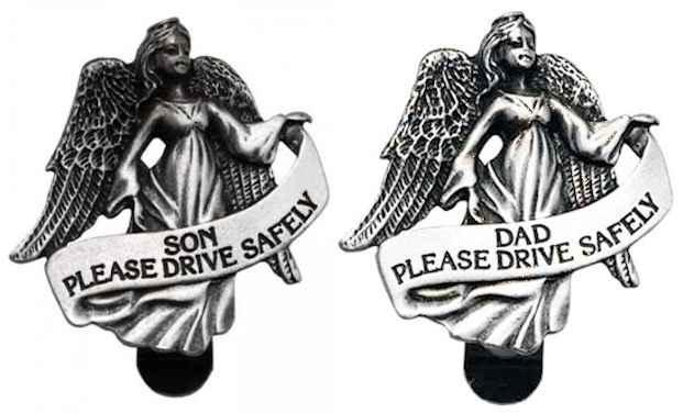 Son Guardian Angel Drive Safely Visor Clip