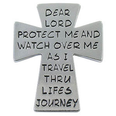 Cross Visor Clip - Protect Me on Life's Journey