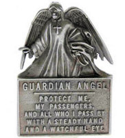 Angel Protect Me Auto Visor Clip