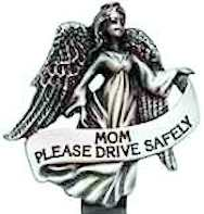 Mom Angel Drive Safely Auto Visor Clip