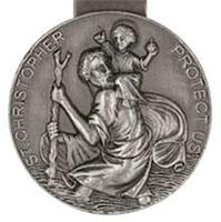 Saint Christopher Protect Me Visor Clip