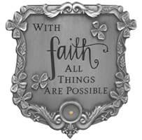 Faith Mustard Seed Visor Clip