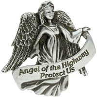 Angel of the Highway Protect Us visor_clips
