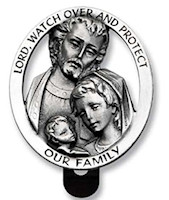 Lord Watch Protect Holy Family Visor Clip