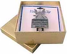 Gold Foil Visor Clip or Necklace Gift Box