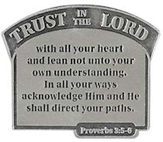 Trust In the Lord Visor Clip