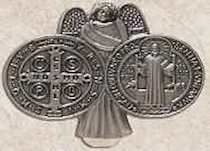 Saint Benedict Visor Clip Saint of Students