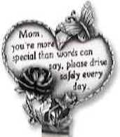 Mom's Heart Visor Clip Pewter