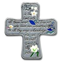 Trust in the Lord Cross Auto Visor Clip
