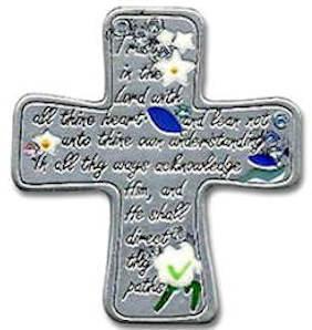 Trust in the Lord Cross Auto Visor Clip