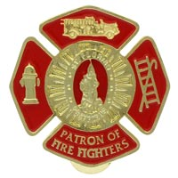 Fire Fighters St. Florian Cross Visor Clip Gold