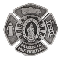 FireFighters Visor Clip St Florian  - Protect Me