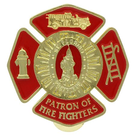 Fire Fighters St. Florian Cross Visor Clip Gold