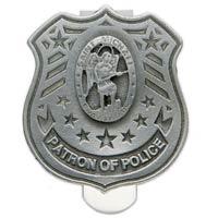St. Michael Police Patron Shield Visor Clip