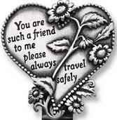 Special Friend Heart Visor Clip