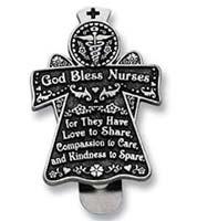 God Bless Nurses Auto Visor Clip