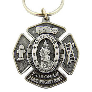 St. Florian Fire Fighter Keychain