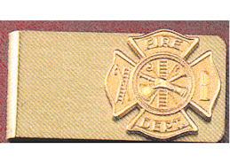Firefighter Money Clip Gold