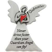 Godmother Never Drive Faster Angel Visor Clip