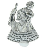 St Christopher Protect Mom Visor Clip