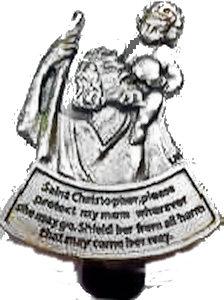 St Christopher Protect Mom Visor Clip