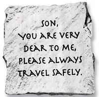 Son Travel Safely Visor Clip