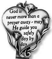 God is Never More than a Prayer Away Auto Visor Clips