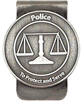 Policeman's Money Clip Serve Silver