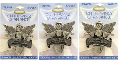 Guardian Angel Visor Clip  for Dad, Mom, Sister