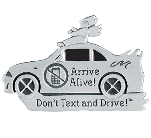 Don't Text and Drive Visor Clip