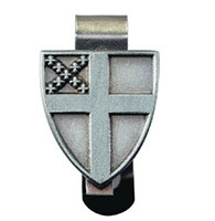 Episcopal Shield Pewter Auto Visor Clip
