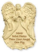 Never Drive Faster Visor Clip Angel