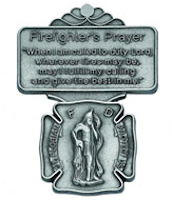 Fireman's Prayer St. Florian Visor Clip