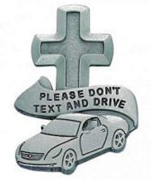 Please don't text and Drive Visor Clip