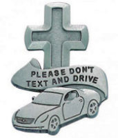 Don't Text and Drive Cross Visor Clip