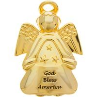 God Bless America Auto Visor Clip Angel