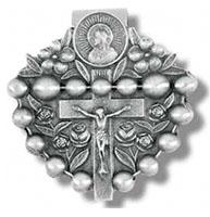Rosary Visor Clip W/ Crucifix