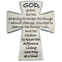 Serenity Prayer Cross Visor Clip