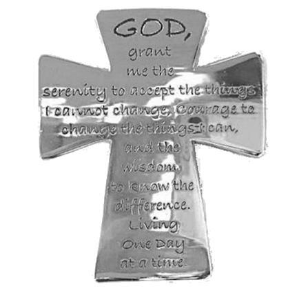 Serenity Prayer Cross Visor Clip